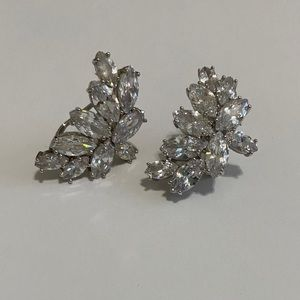Beautiful crystal jeweled earrings